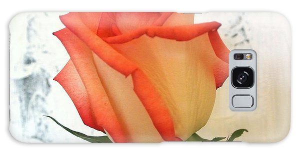 Peach Trim Rose Galaxy Case by Marsha Heiken