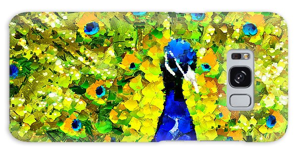 Peacock Abstract Realism Galaxy Case