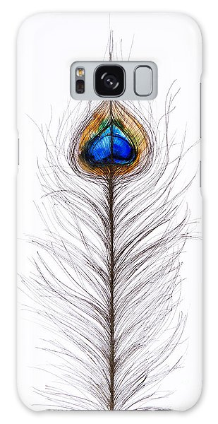 Feathers Galaxy Case - Peacock Abstract by Tara Thelen