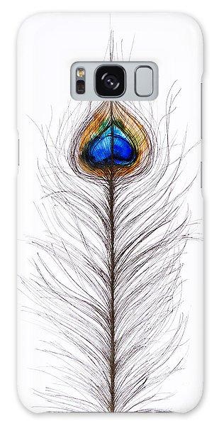 Peacocks Galaxy Case - Peacock Abstract by Tara Thelen