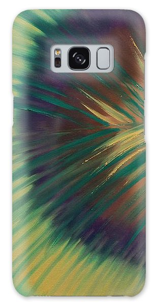 Galaxy Case featuring the painting Peacock by Aliya Michelle