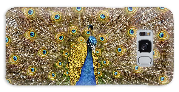 Peacock Courting Galaxy Case by Charles Beeler