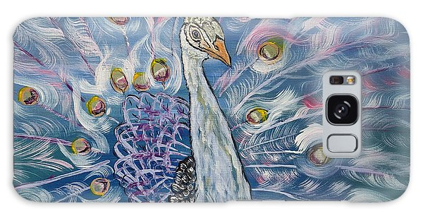 Iridescent Galaxy Case - Peacock Dressed In White by Ella Kaye Dickey