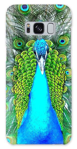 Peacock Face On Galaxy Case