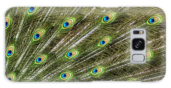 Peacock Feather Abstract Pattern Galaxy Case by Darleen Stry