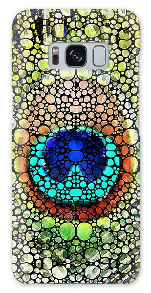 Peacock Feather - Stone Rock'd Art By Sharon Cummings Galaxy Case