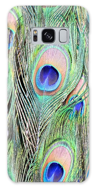 Peacock Feathers Galaxy Case