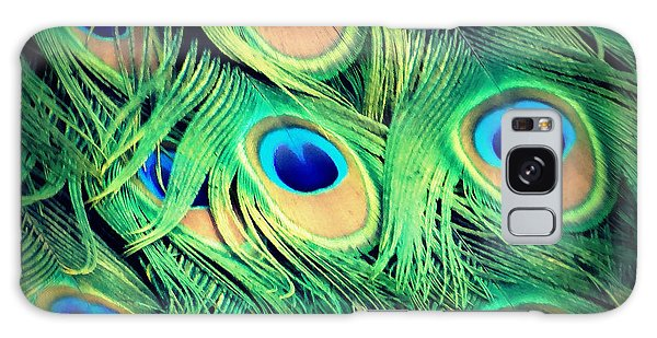 Peacock Feathers Galaxy Case by David Mckinney