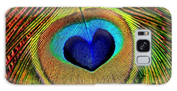 Peacock Feathers Eye Of Love Galaxy Case by Tracie Kaska