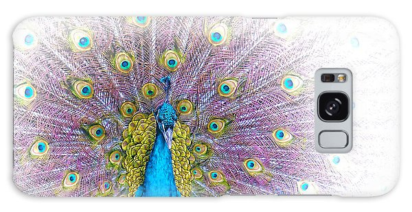 Galaxy Case - Peacock by Holly Kempe