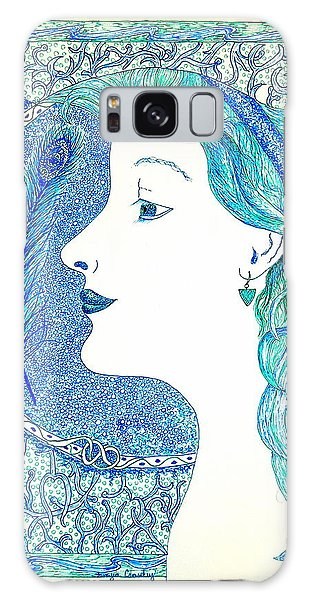 Peacock Lady Galaxy Case by Tamyra Crossley