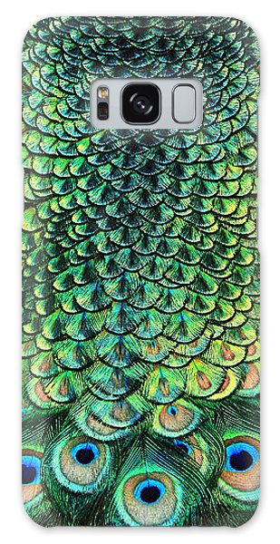 Peacock Pano Galaxy Case by Clare VanderVeen