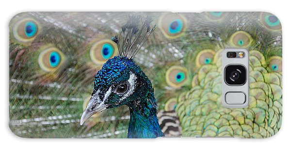 Peacock Portrait Galaxy Case