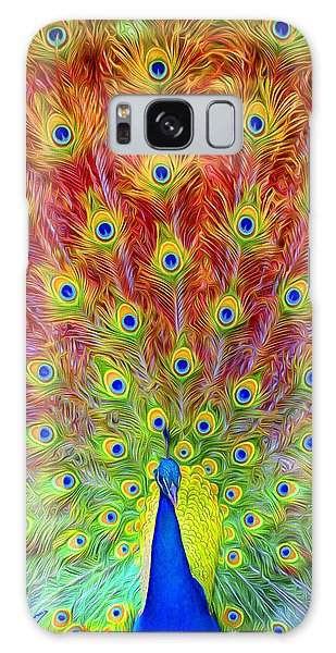 Iridescent Galaxy Case - Peacock Power by David Wagner