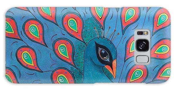 Peacock Promenade Galaxy Case