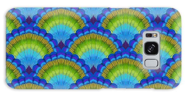 Peacock Galaxy Case - Peacock Scallop Feathers by Kimberly McSparran