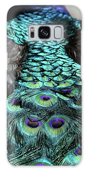 Peacock Trail Galaxy Case by Karol Livote