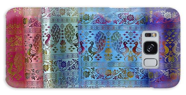 Peacocks On Silk Galaxy Case