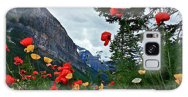 Peaks And Poppies Galaxy Case by Linda Bianic