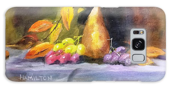 Pear And Grapes Still Life Galaxy Case