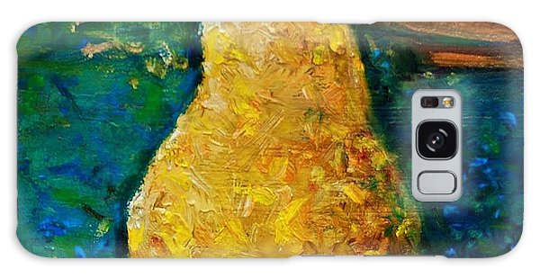 Pear On Blue Table Galaxy Case by Jean Cormier