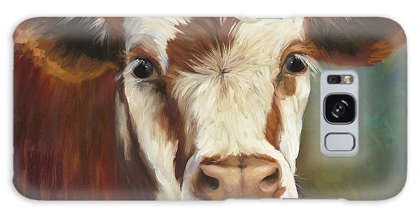 Pearl Iv Cow Painting Galaxy Case