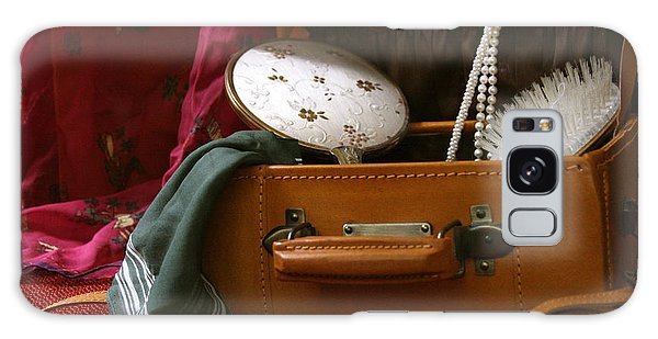 Pearls And Brush Set In A Suitcase Galaxy Case