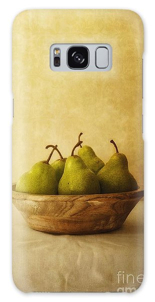 Pears In A Wooden Bowl Galaxy Case