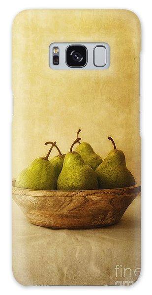 Table Galaxy Case - Pears In A Wooden Bowl by Priska Wettstein