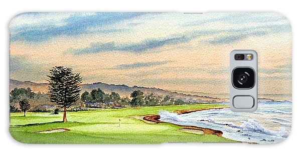 Pebble Beach Golf Course 18th Hole Galaxy Case by Bill Holkham
