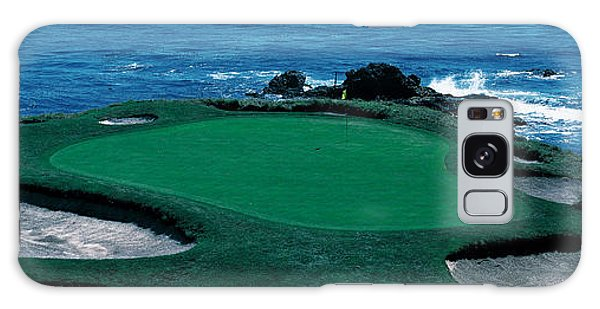 Pebble Beach Golf Course 8th Green Galaxy Case