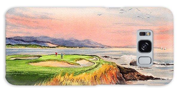 Pebble Beach Golf Course Hole 7 Galaxy Case