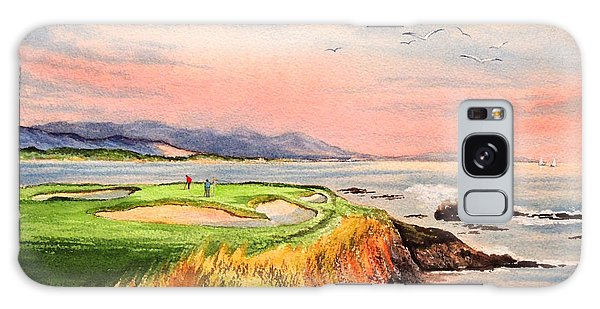Monterey Galaxy Case - Pebble Beach Golf Course Hole 7 by Bill Holkham