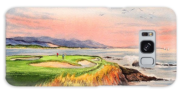 Pebble Beach Golf Course Hole 7 Galaxy Case by Bill Holkham