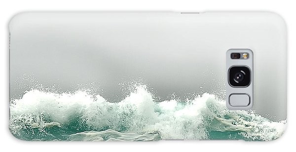 Pebble Beach In The Fog Galaxy Case by Artist and Photographer Laura Wrede