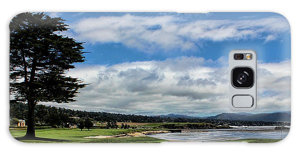 Pebble Beach - The 18th Hole Galaxy Case by Judy Vincent