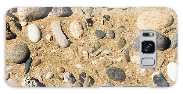 Pebbles On Beach Pattern Galaxy Case