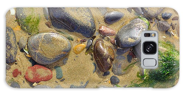 Pebbles On The Beach Galaxy Case