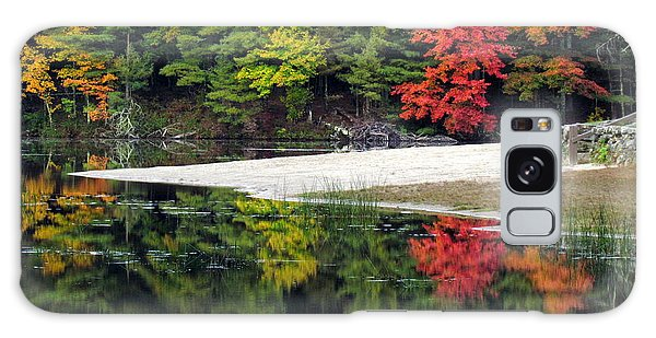 Peck Pond Autumn Reflections Ix Galaxy Case