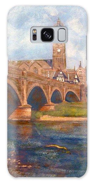 Peebles  Bridge Inn And Parish Church Galaxy Case