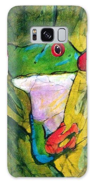 Peek-a-boo Frog Galaxy Case
