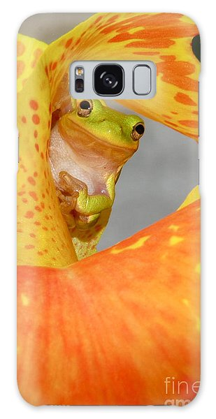 Peek A Boo Galaxy Case by Kathy Gibbons