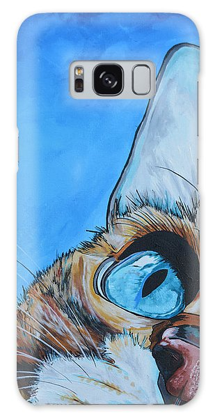 Cat Galaxy S8 Case - Peek A Boo by Patti Schermerhorn