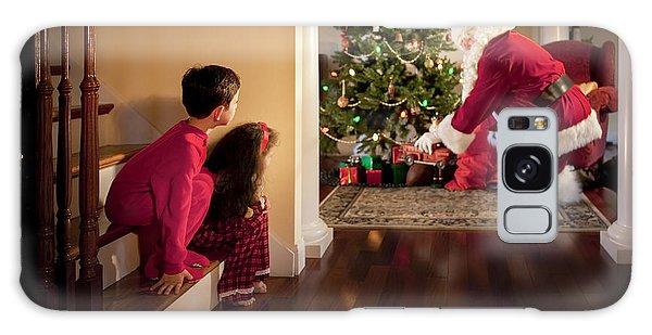 Santa Claus Galaxy Case - Peeking At Santa by Diane Diederich