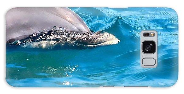 Peeking Dolphin Galaxy Case by Debra Forand