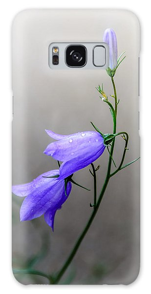 Blue Bells Peeking Through The Mist Galaxy Case