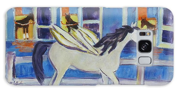 Pegasus At Race Track Galaxy Case by Betty Pieper