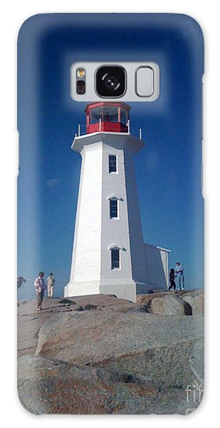 Peggy's Cove Lighthouse Galaxy Case by Brenda Brown