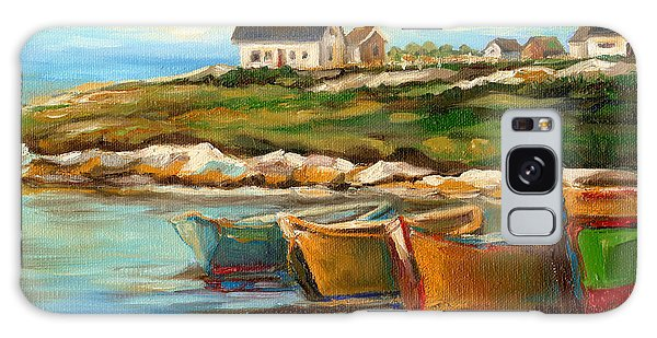 Peggys Cove With Fishing Boats Galaxy Case