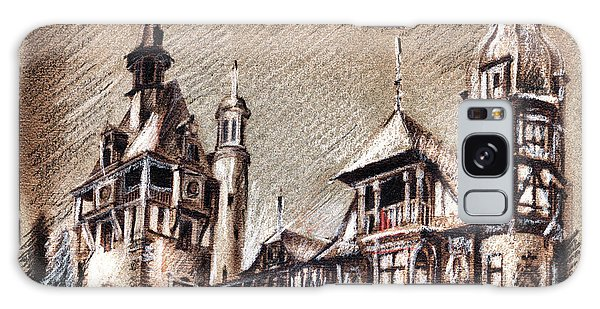 Peles Castle Romania Drawing Galaxy Case
